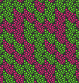 Colored geometrical pattern with green and pink vector image