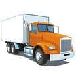 Commercial truck vector image