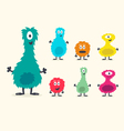 Cute Furry Creature Set vector image