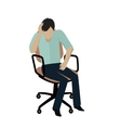 Man Sitting on Armchair vector image