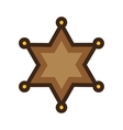 Sherrif Badge vector image