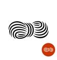 Yarn black elegant icon vector image