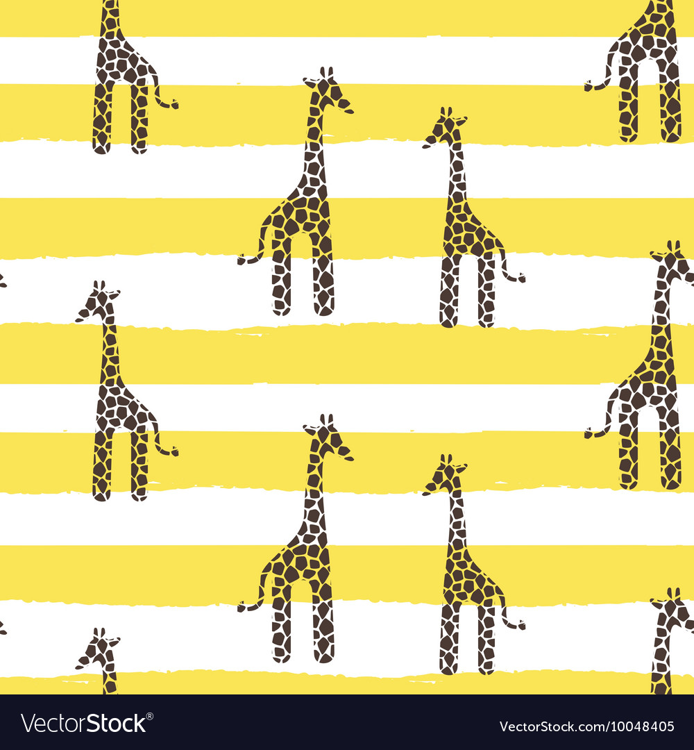Giraffe skin seamless pattern safari vector