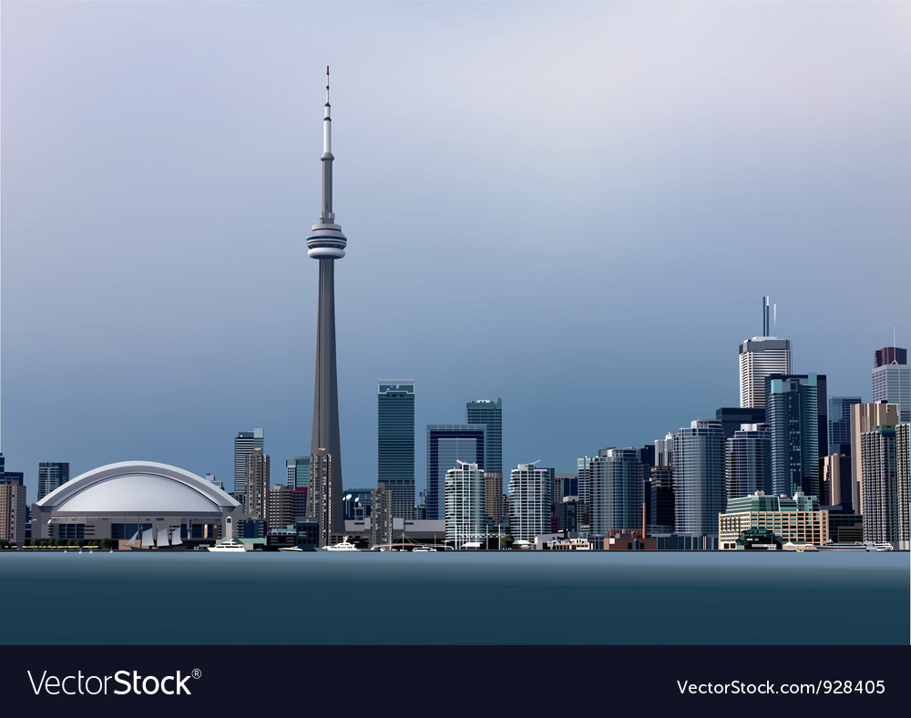 View of toronto vector