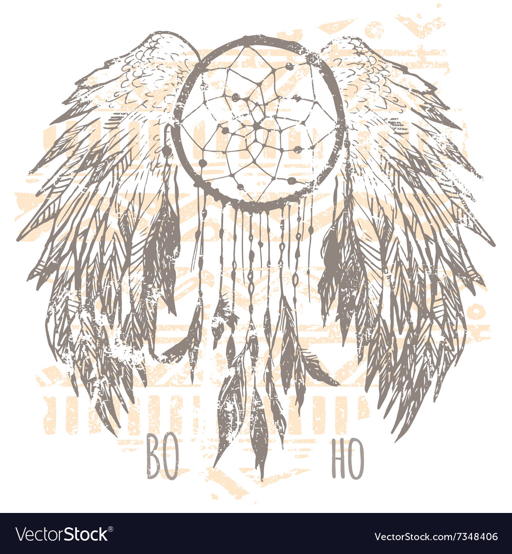 Dreamcatcher print tshirt graphics vector