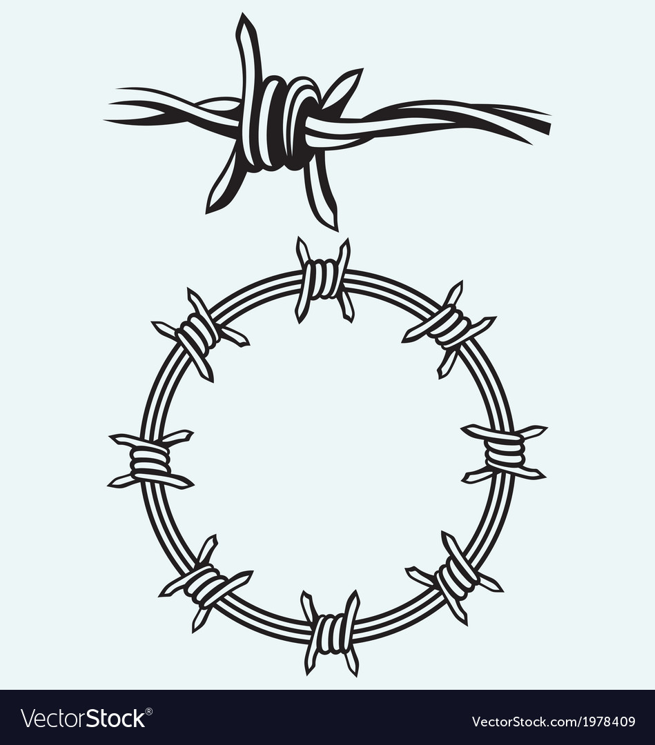 Barbed wire vector
