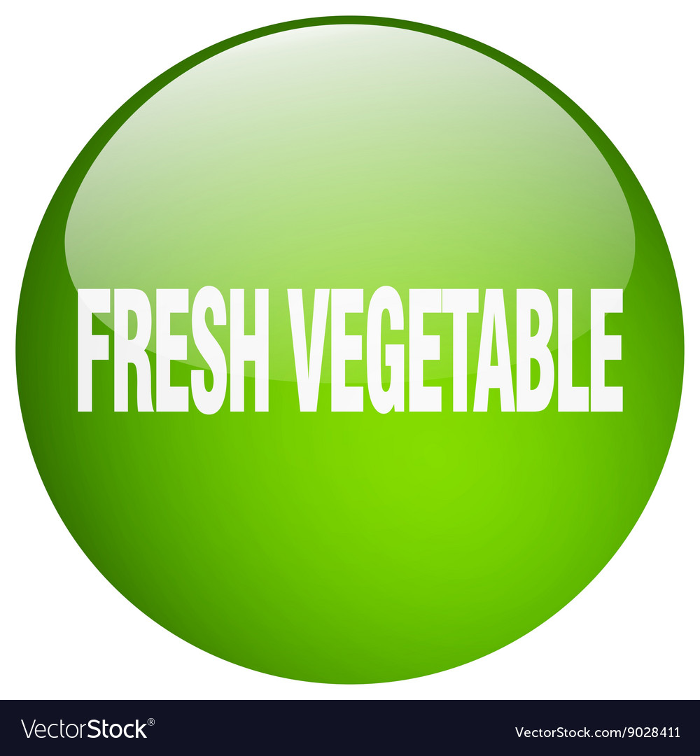 Fresh vegetable green round gel isolated push vector