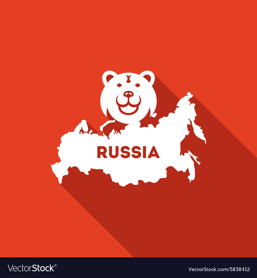 Bear the symbol of russia icon vector