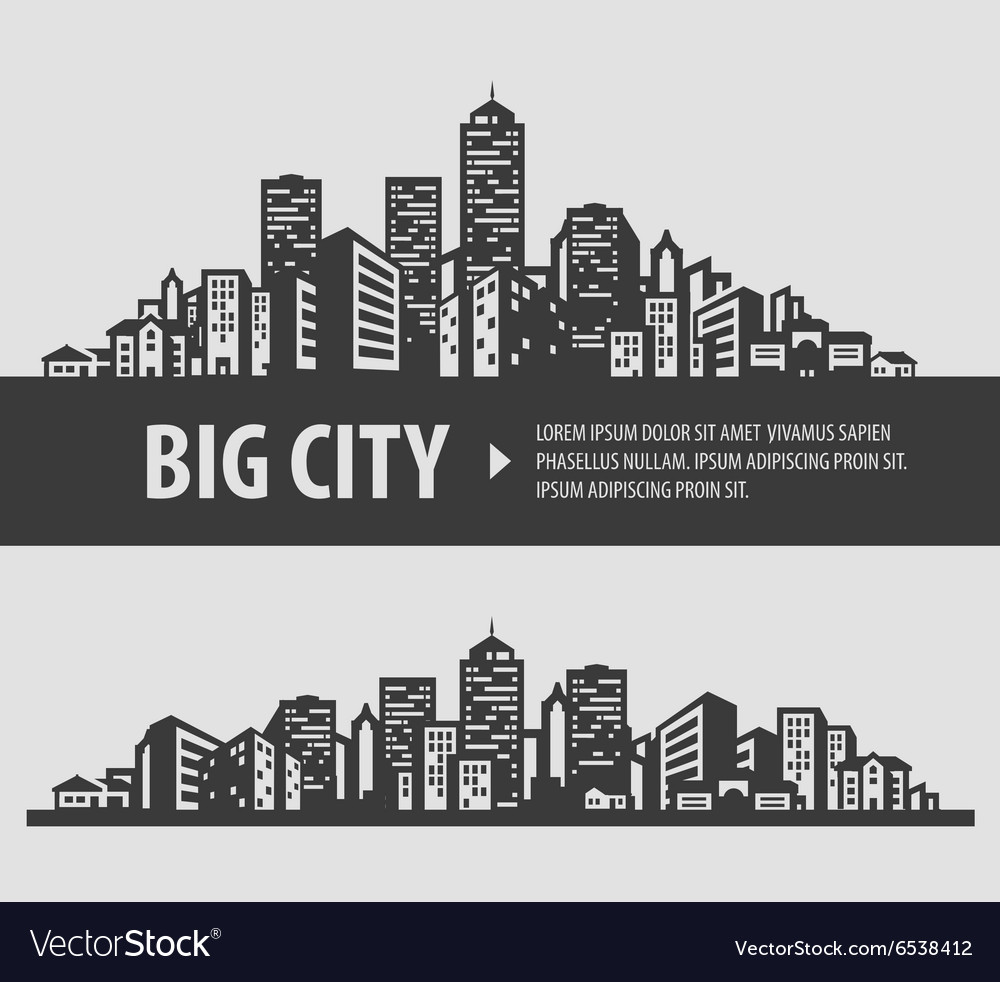 City and town logo design template vector