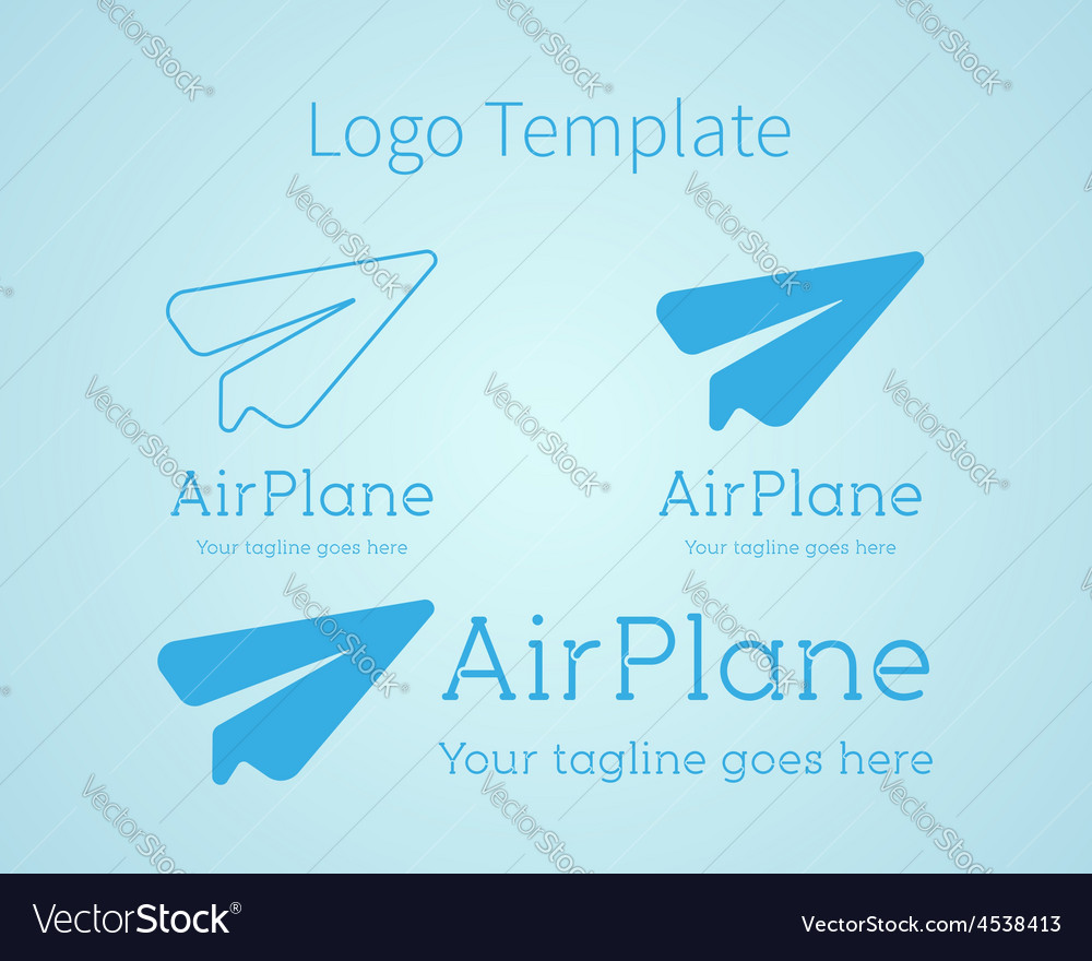 Airplane  logo concept aircraft vector