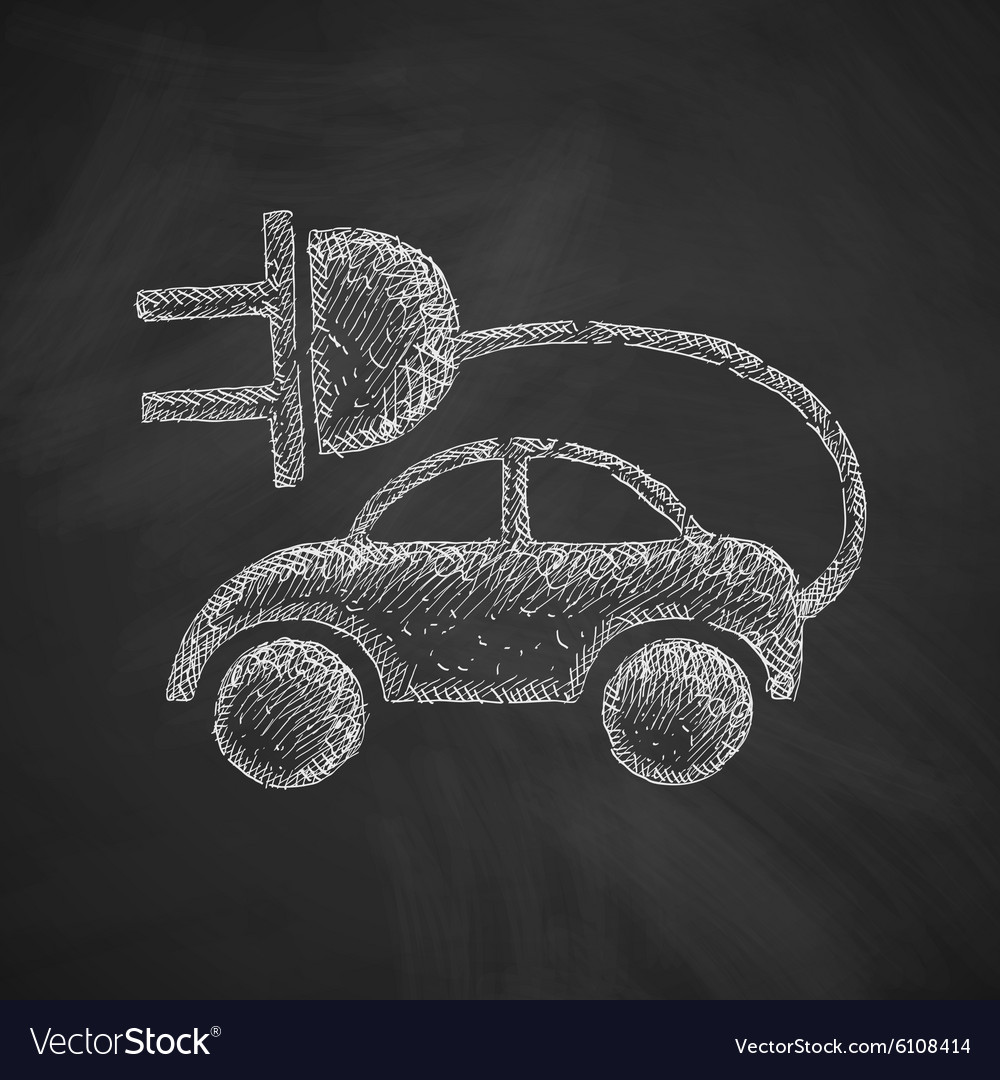 Eco car icon vector