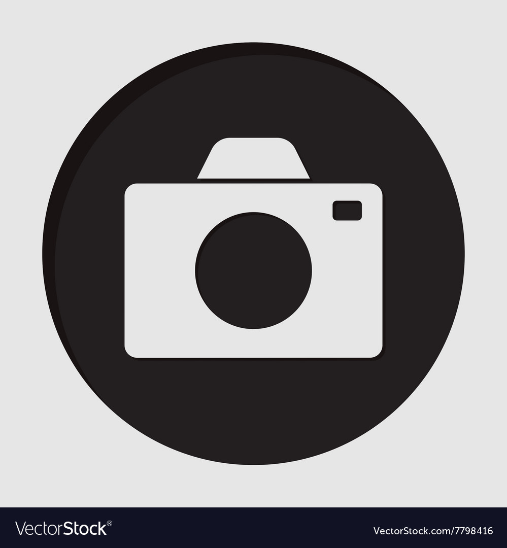 Information icon  camera vector