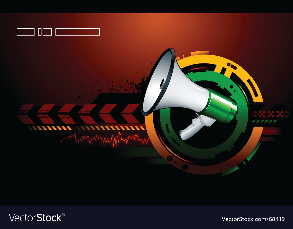 Modern background megaphone vector