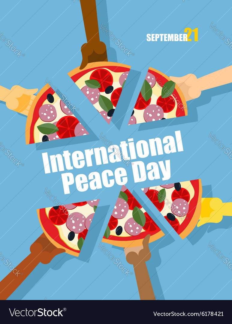 Day of peace 21 september international holiday vector