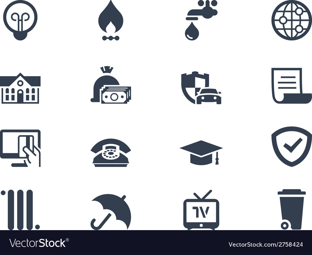 Billing icons vector