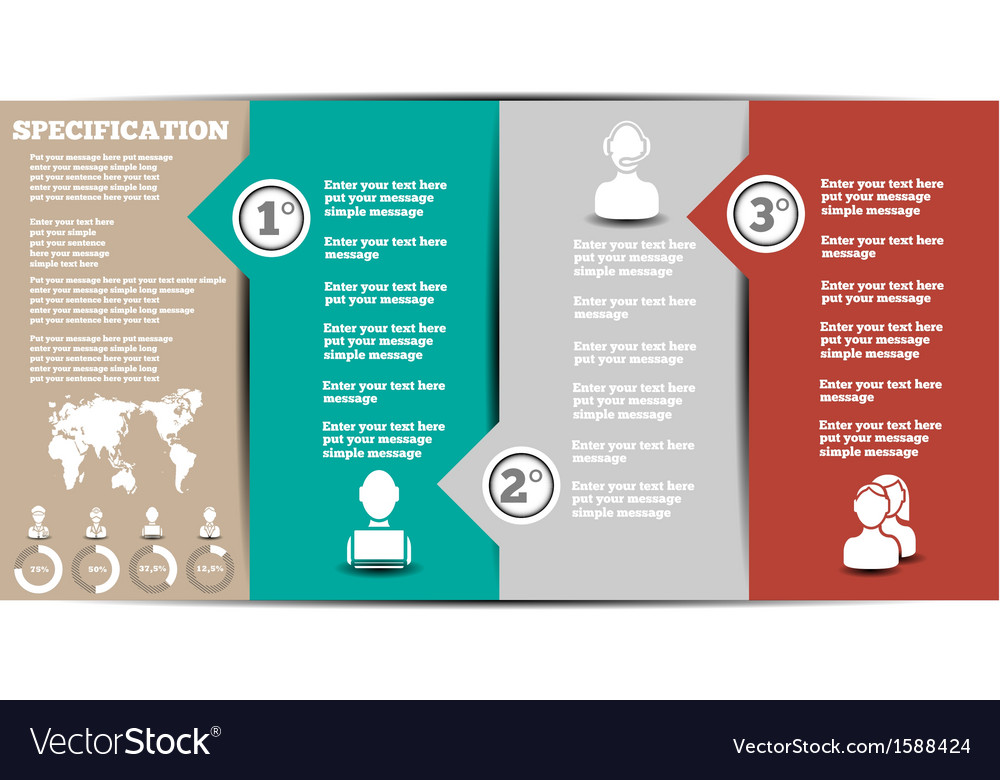 Infographic modern template 2 vector