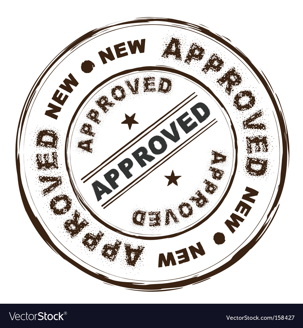 Approved ink stamp vector