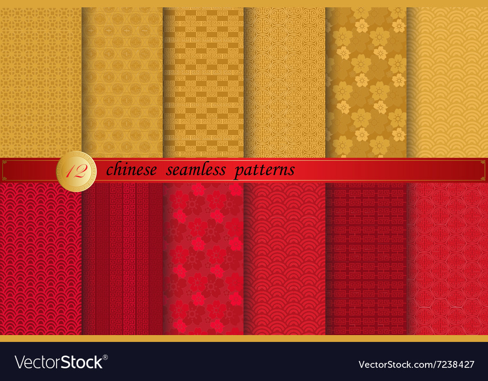 Chinese new year patterns vector