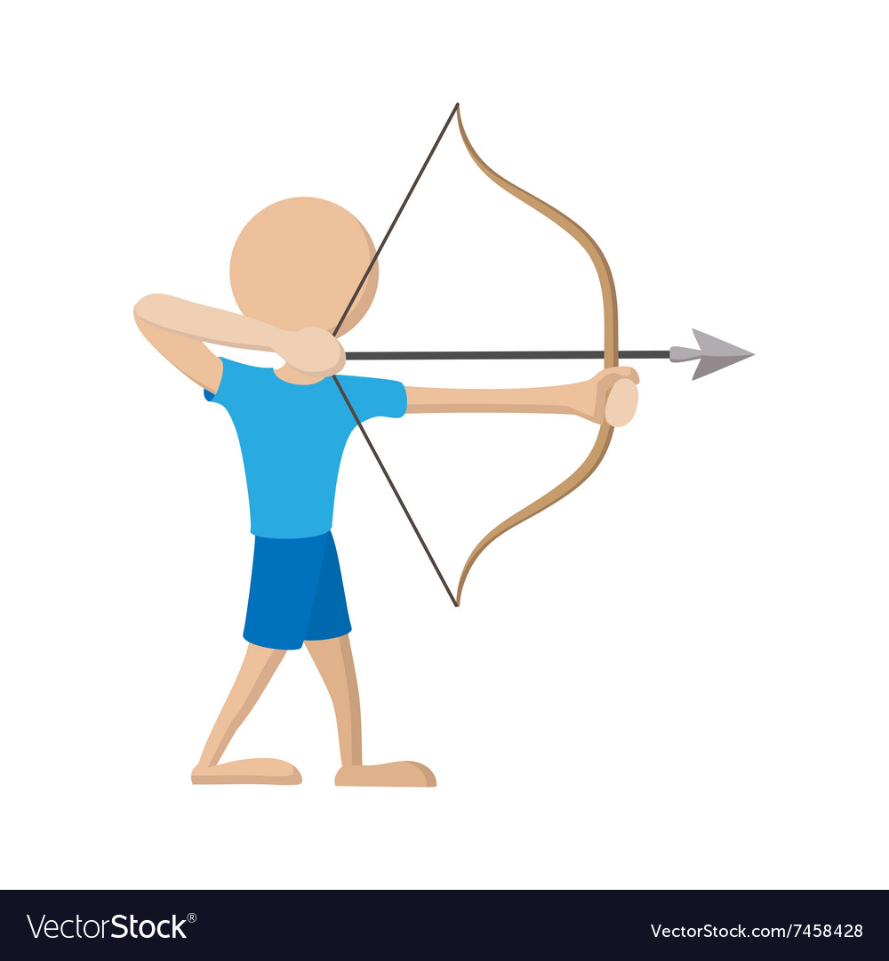 Archer cartoon icon vector