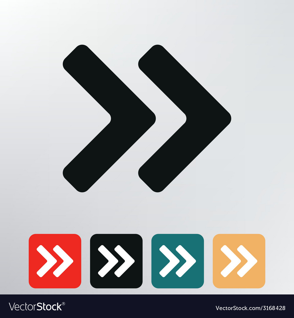 Double arrows icon vector