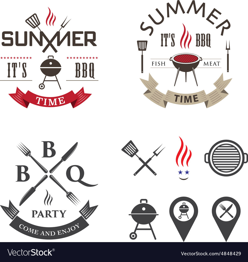 Barbecue logo vector