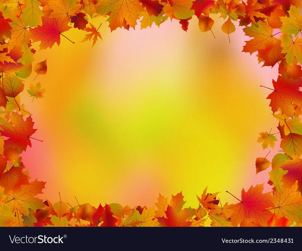 Autumn leaves border for your text eps 8 vector