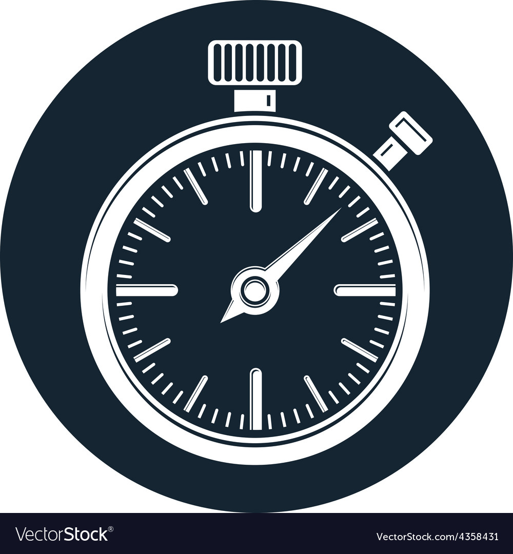 Oldfashioned pocket watch graphic simple vector