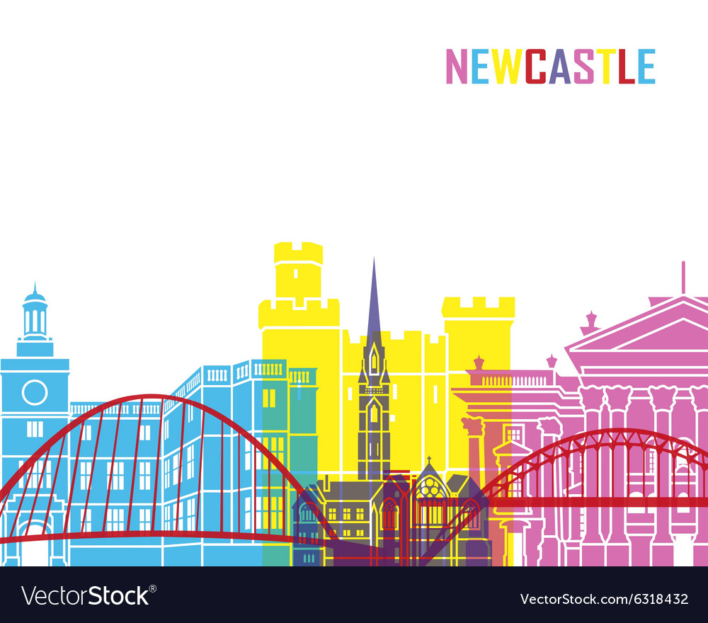 Newcastle skyline pop vector