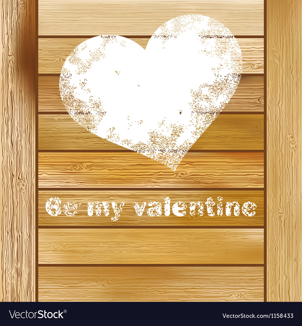 Vintage gift box with heart eps8 vector