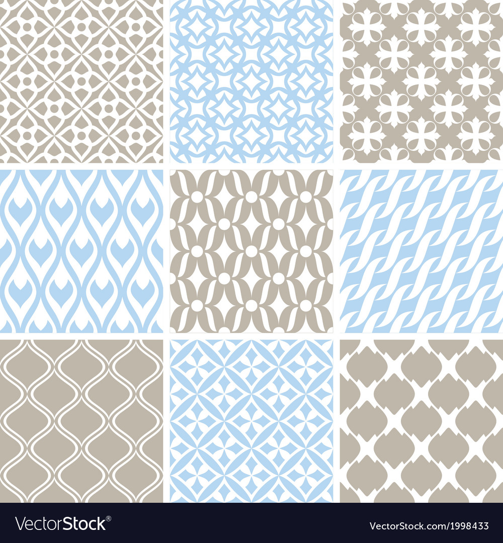 Vintage ornament patterns vector