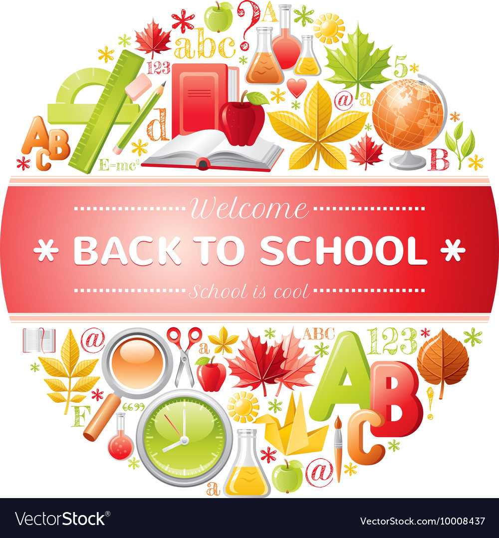 Back to school icon set vector