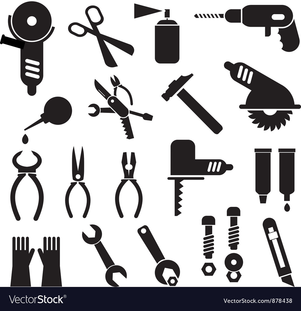 Work tool icons vector