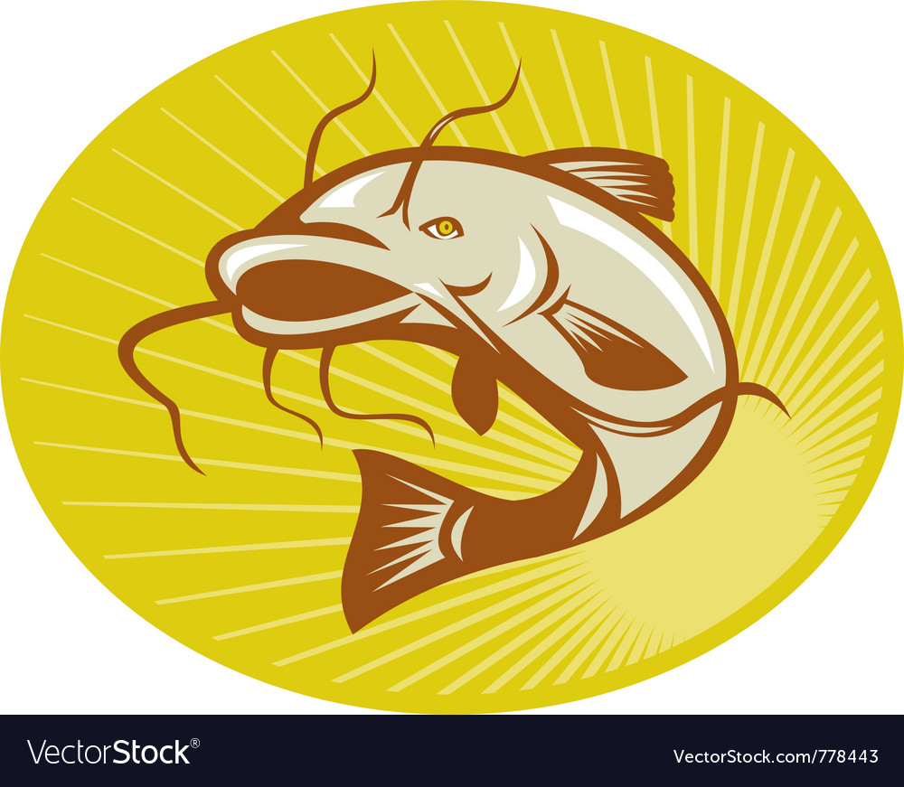 Catfish jumping vector