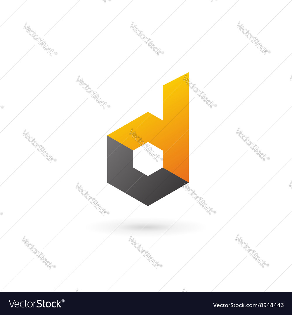 Letter d technology logo icon design template vector