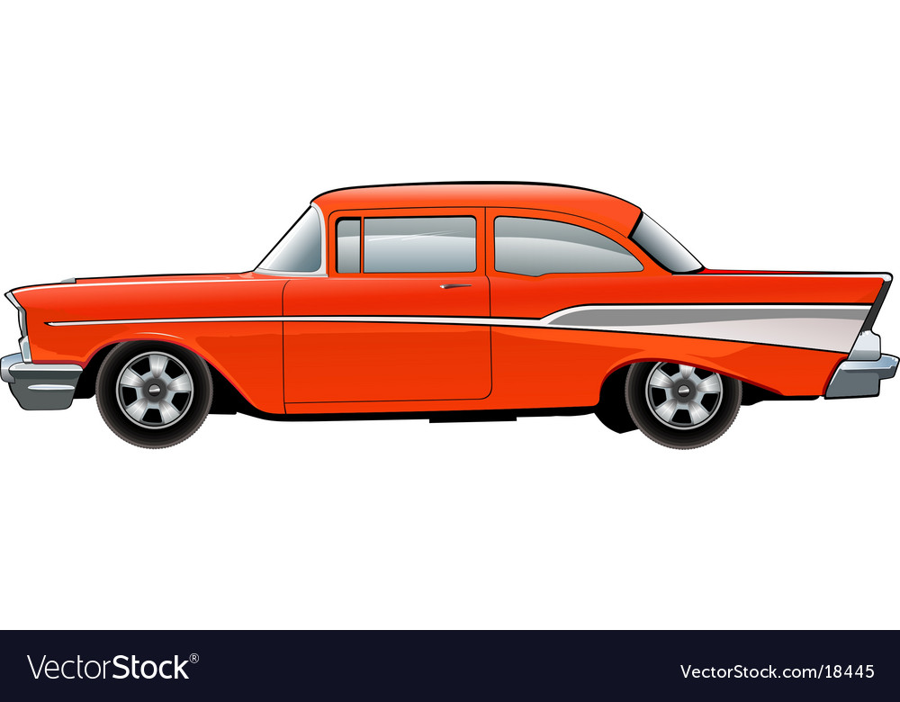Of red car vector