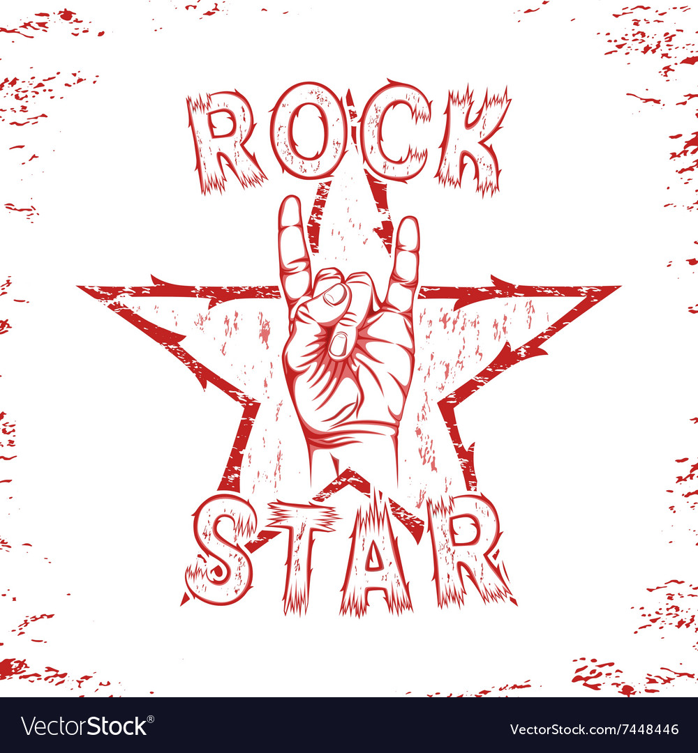 Rock star print for tshirt graphic vector