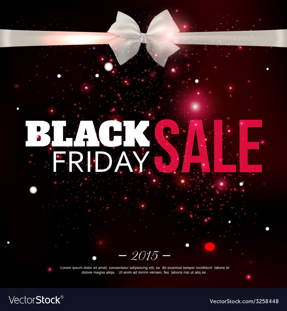 Black friday sale background with photorealistic vector