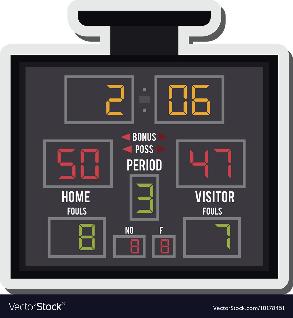 Basketball scoreboard icon vector