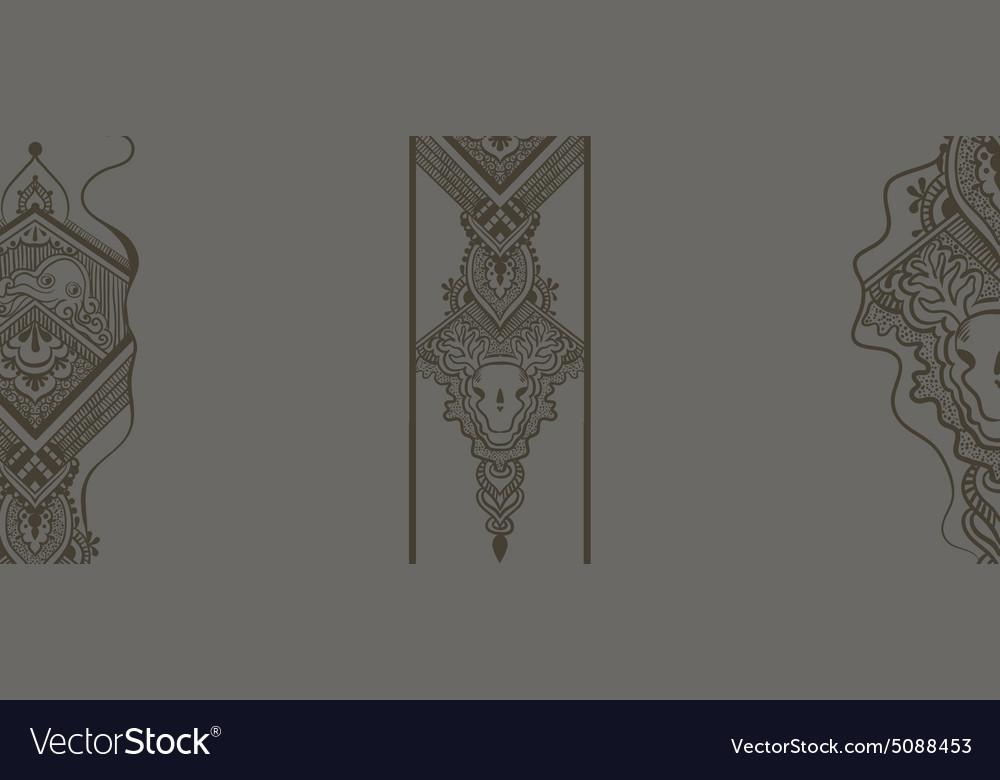 Gray pattern with ornamental design vector