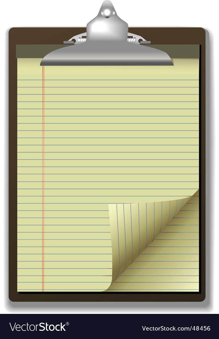 Clipboard corner paper page vector