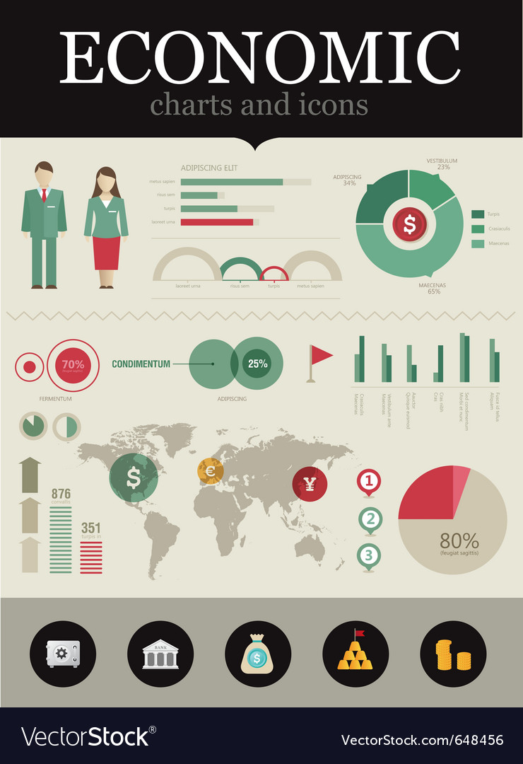 Economic infographic vector