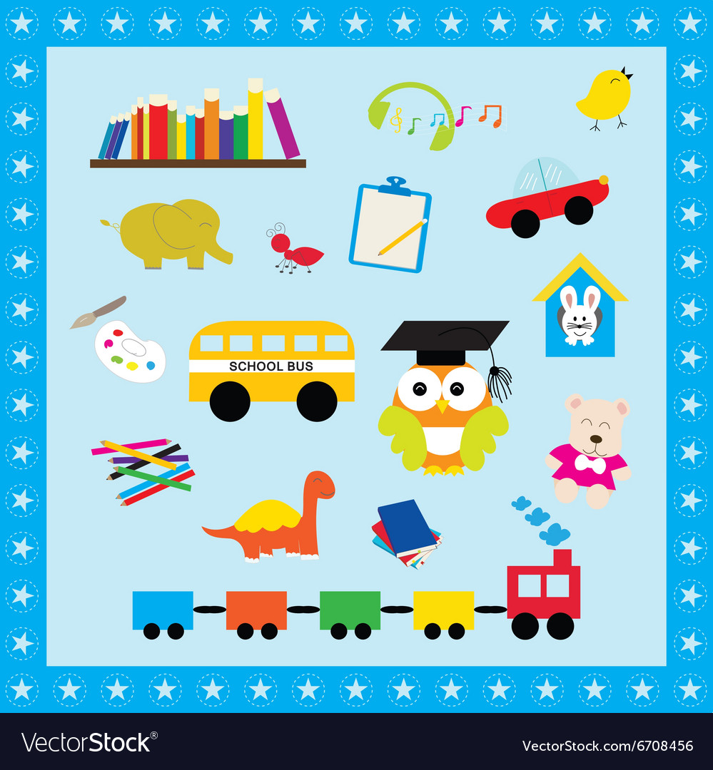 Elements collection toys for kid vector