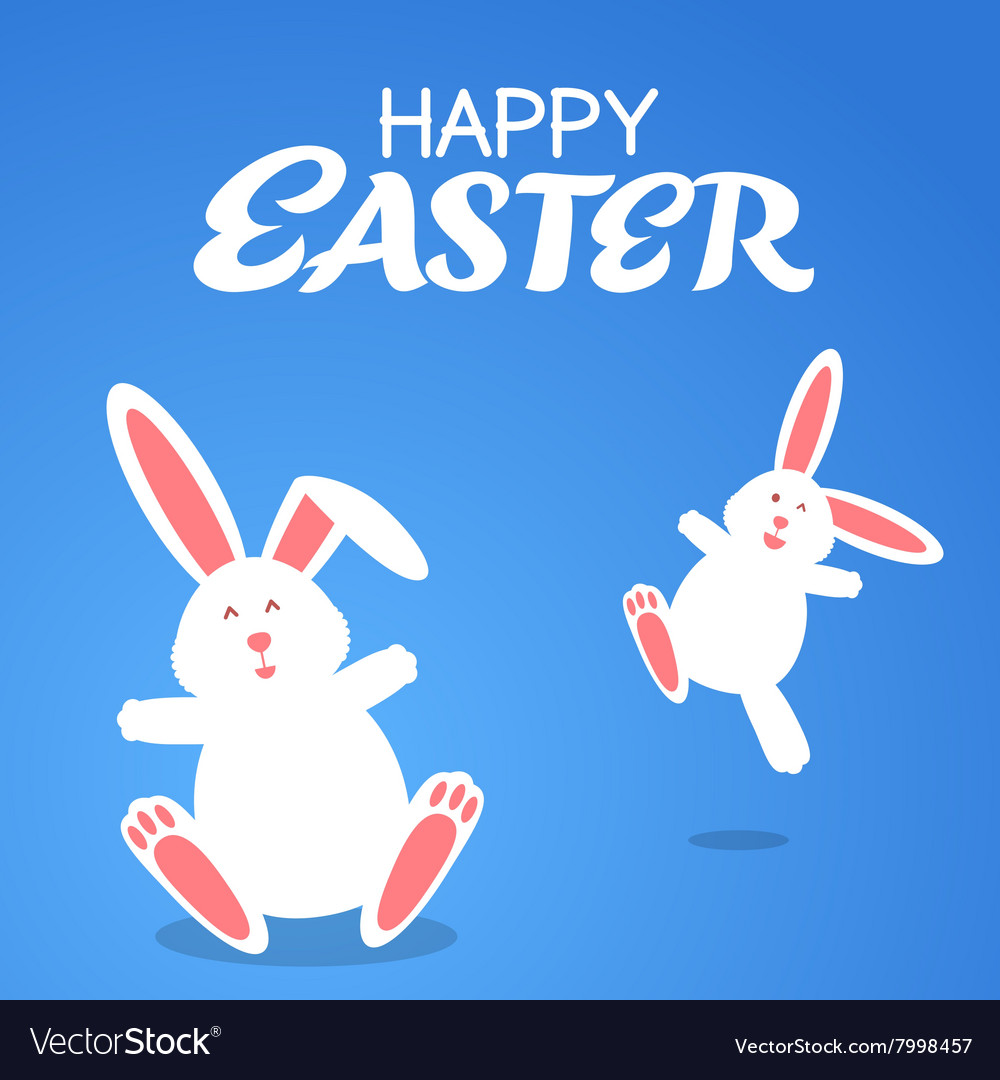 Cartoon rabbit easter vector