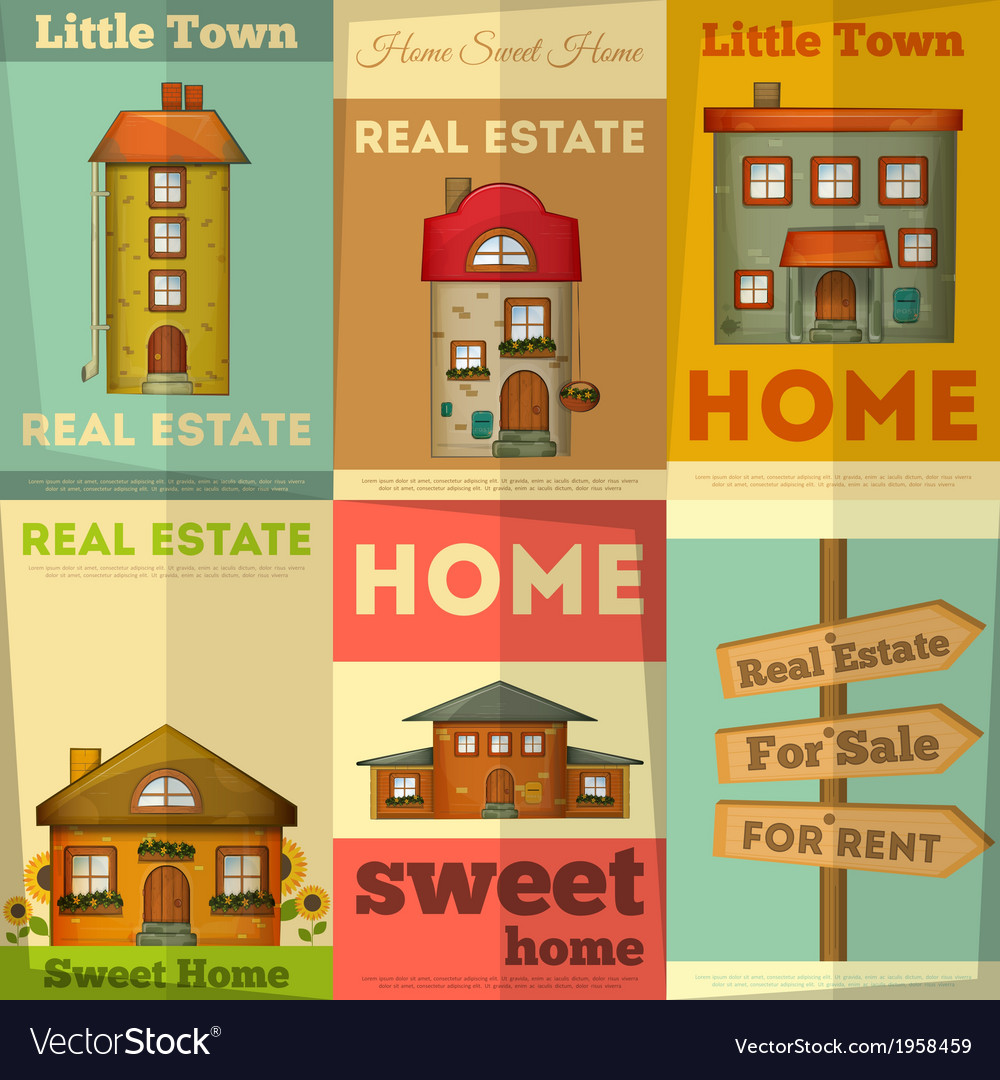 Home posters vector