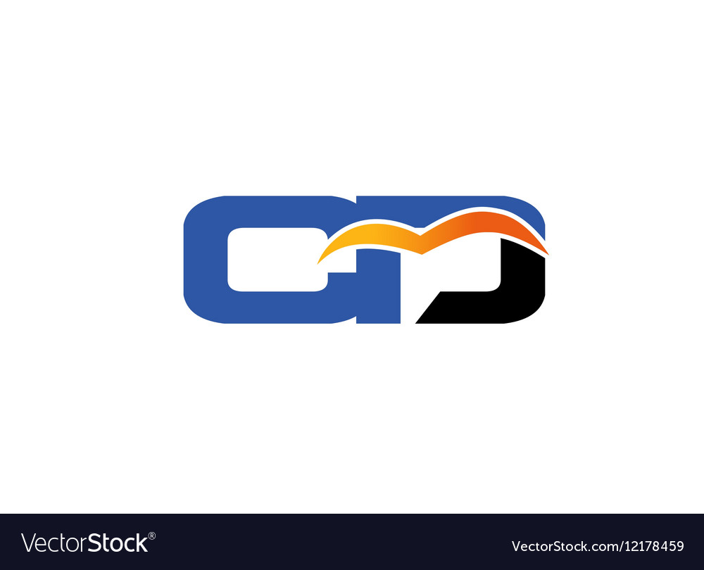 Letter c and d logo vector