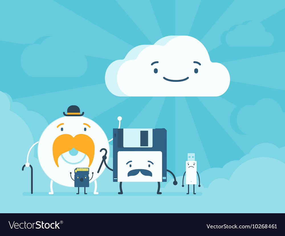 Old memory storages and cloud data service vector