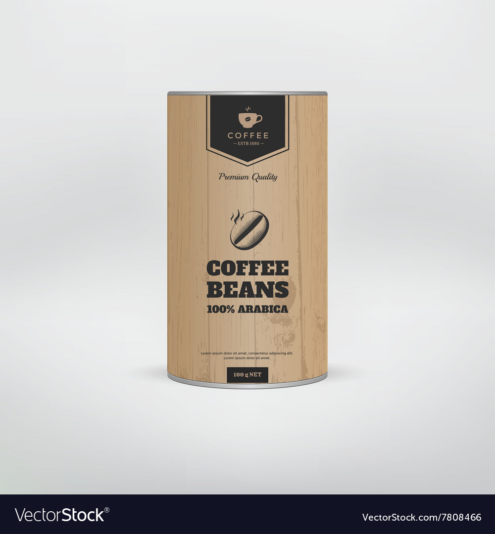 Mockup coffee packaging vector