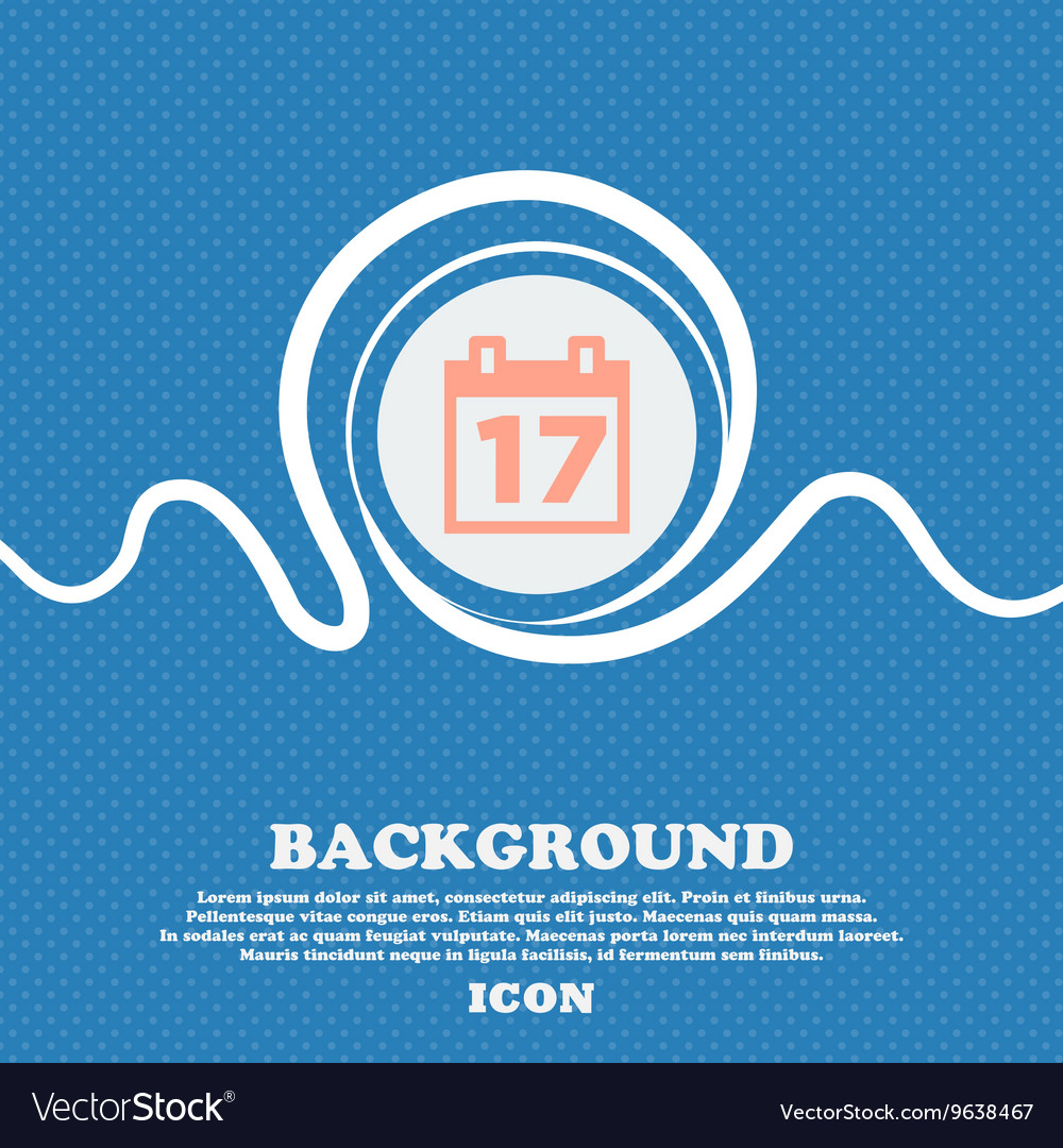 Calendar date or event reminder sign icon blue and vector