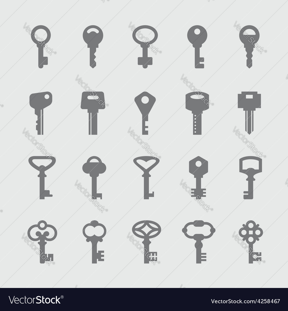 Keys icons vector