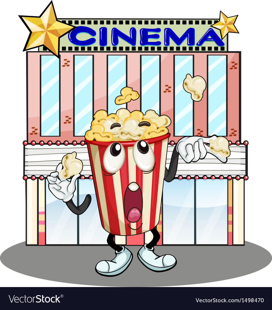 A popcorn at the cinema vector